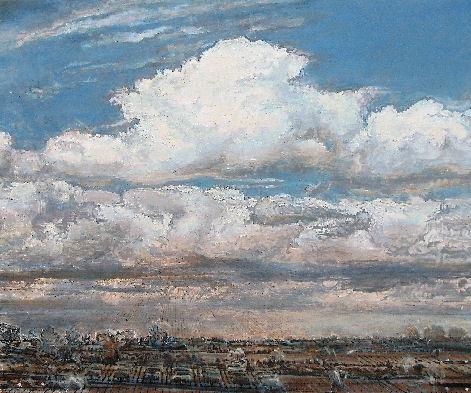 Bild, Bilder, image, images, picture, pictures,Malerei / Painting / Peinture, Quellwolken, Blumenkohlwolen, cumulonimbus mediocris