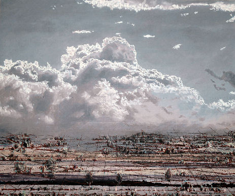 wolkenhimmel, wolkenlandschaft, skyscape, cloudscape, sur toile