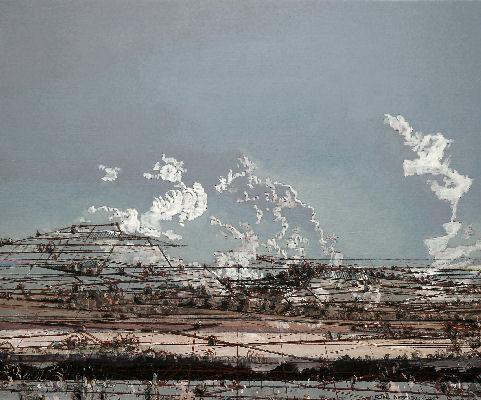 Malerei / Painting / Peinture, Quellwolken, Blumenkohlwolen, cumulonimbus mediocris