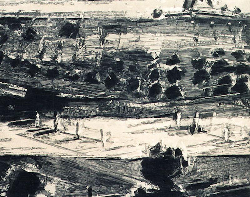 Radierung / Etching / Gravure, Landschaftsbild, eau-forte, gravures, etchings, artwork, kunstwerk, ouevre d'art, art, kunst,oeuvres, arbeiten, works, arbeiten auf papier, on paper, sur papier