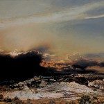 """Fosses de Fournés 1"", 2012, Acryl auf Holz, 40x48 cm"
