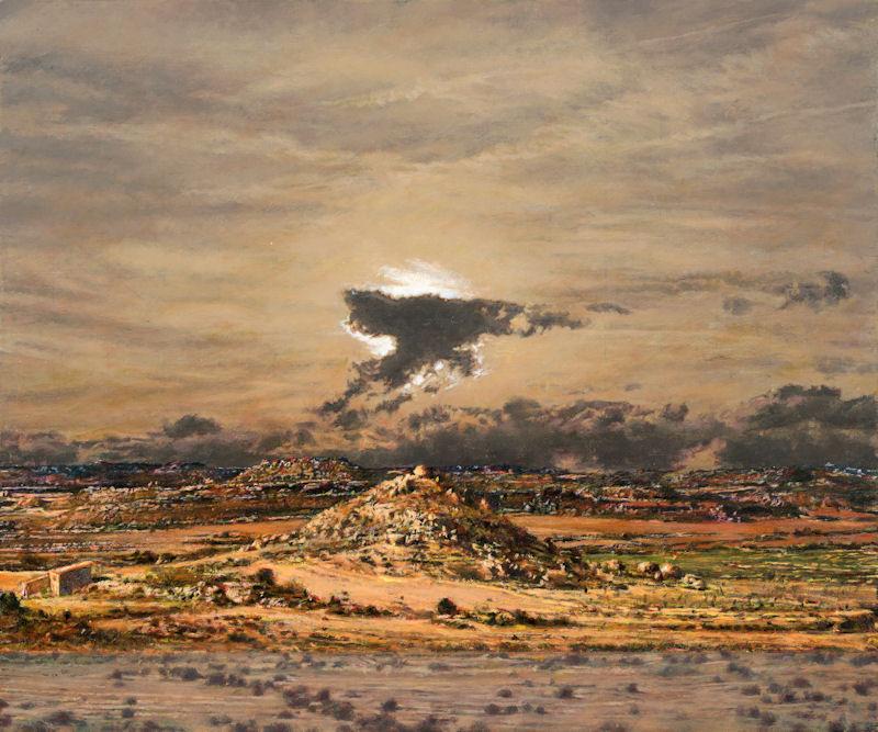Skyscape 7, 2013, acrylic on canvas, 100x120 cm