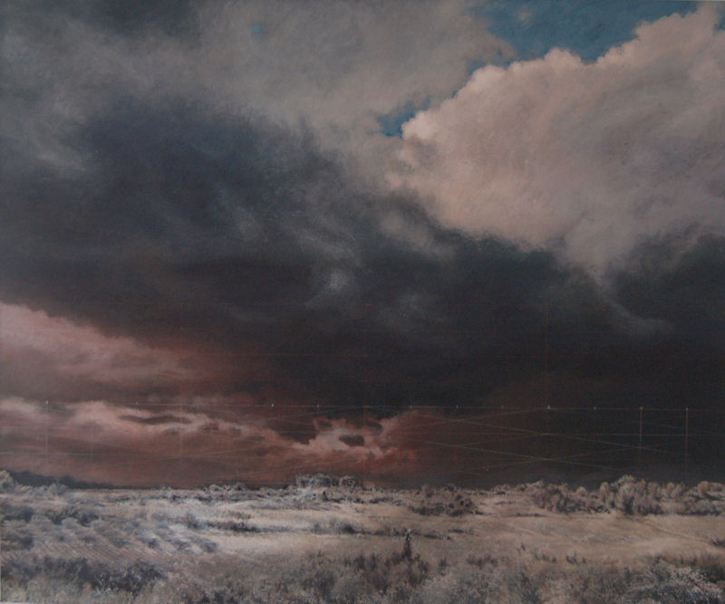 Skyscape 8, 2013, acrylic on canvas, 100 x 120 cm