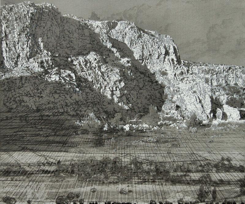 """""""Carrière"""", 2017, technique mixte, 50x60 cm"""