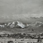 Bergkette, 2014, Mischtechnik kaschiert auf Büttenpapier, Papierformat, 50x60 cm (2)