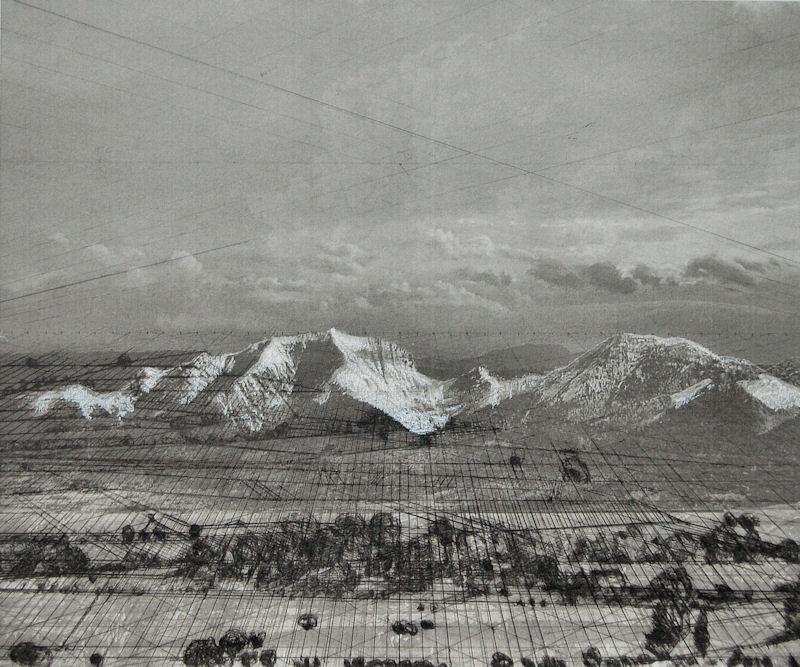 """""""Chaîne de montagne"""", 2017, techniques mixtes, , 50x60 cm"""