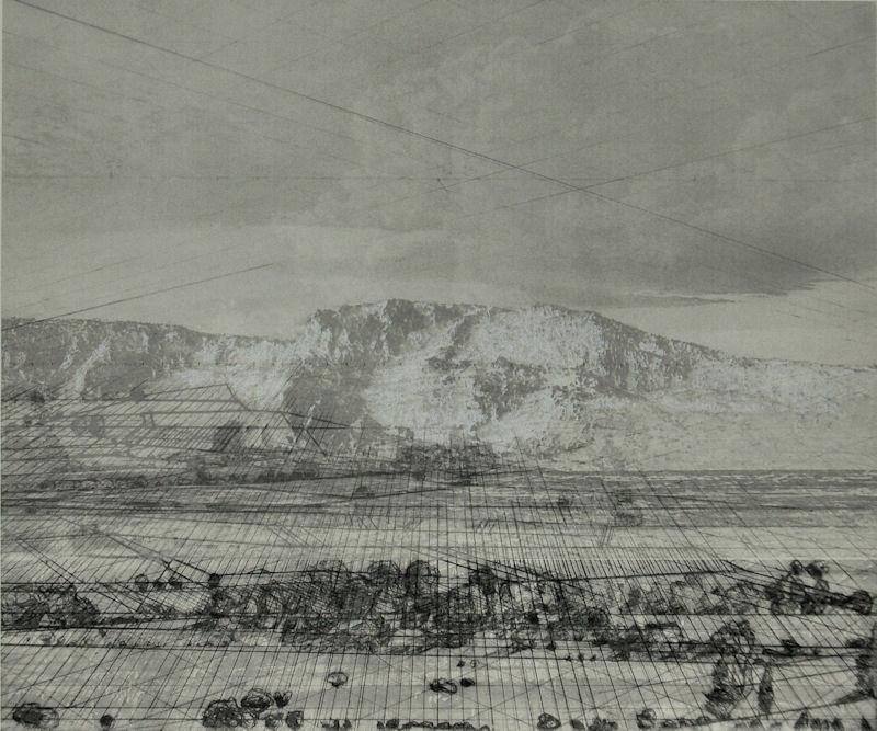 """""""Un regard ouvert"""", 2014, technique mixte, 50x60 cm"""
