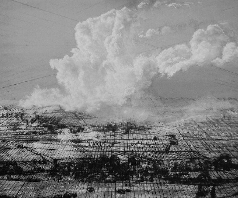 Negenborn, Heike_Net-scape - Landschaft im Wandel, 2014, Acryl  auf Leinwand, 125 x150 x 6 cm, www.