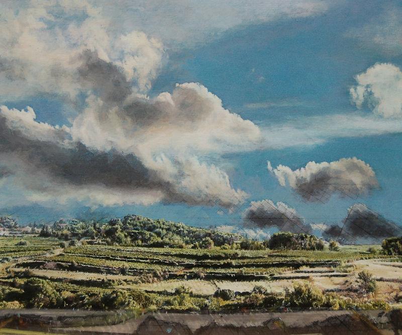 Heike Negenborn_Streiflicht 5, 2010, 2016, Acryl auf Holz, 44 x 52 cm