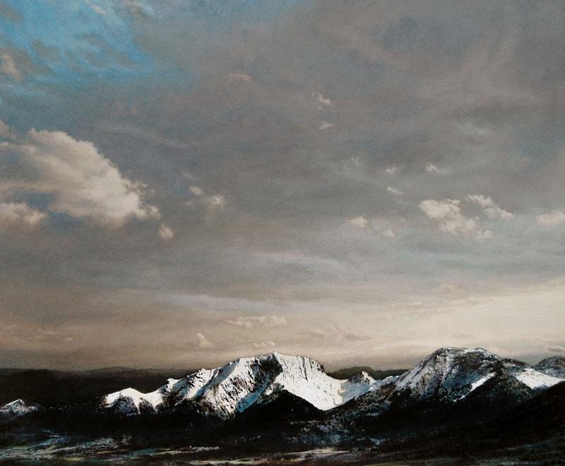 Heike Negnborn_Grenoble, 2016, Acryl auf Holz, 64 x 76 cm