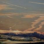 acrylique sur bois, image, images, tableau, tableaux, paysage, landscape , landschat, landschaftsbild, wolkenbild, skyscape, cloudscape