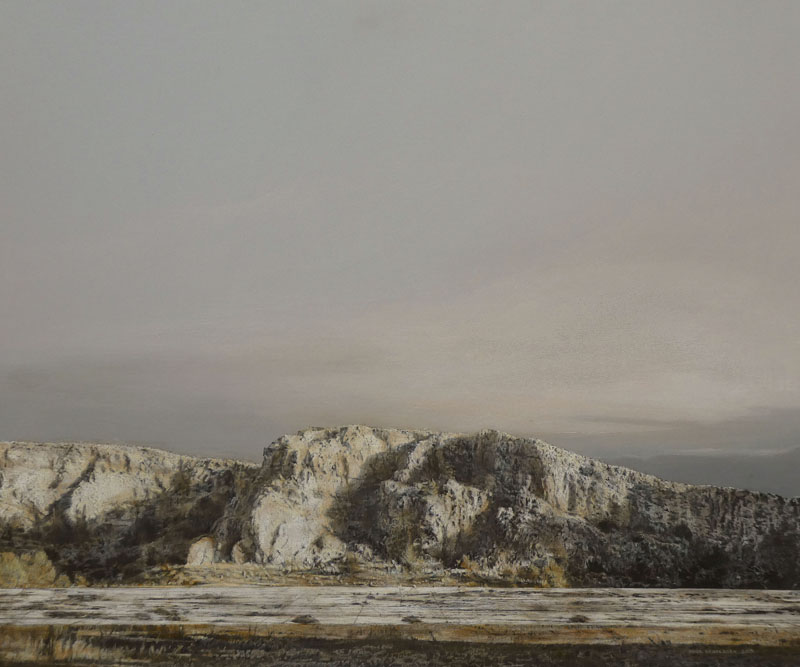 Carrière, 2019, Acryl auf Holz, 64 x 76 cm