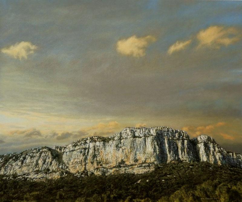 Hortus, 2018, acrylique sur bois, 64 x 76 cm