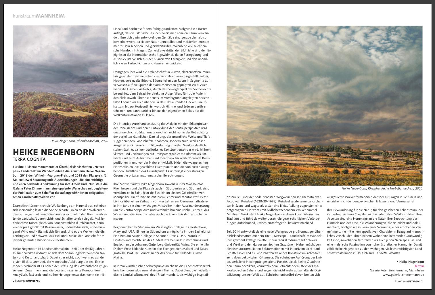 kunstraumMETROPOL – Das Kunstmagazin der Metropolregion Rhein-Neckar, Ausgabe Q4/2020, 4-5